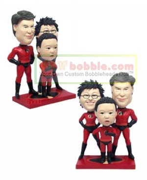 Custom bobbleheads - Incredibles- for 3 persons